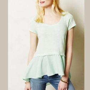 Postmark West End Mint Green Peplum Shirt Sz S